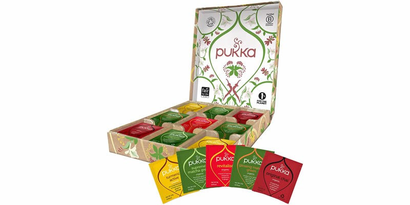 Pukka Box  Scatola di Tisane e Tè Biologiche Assortite